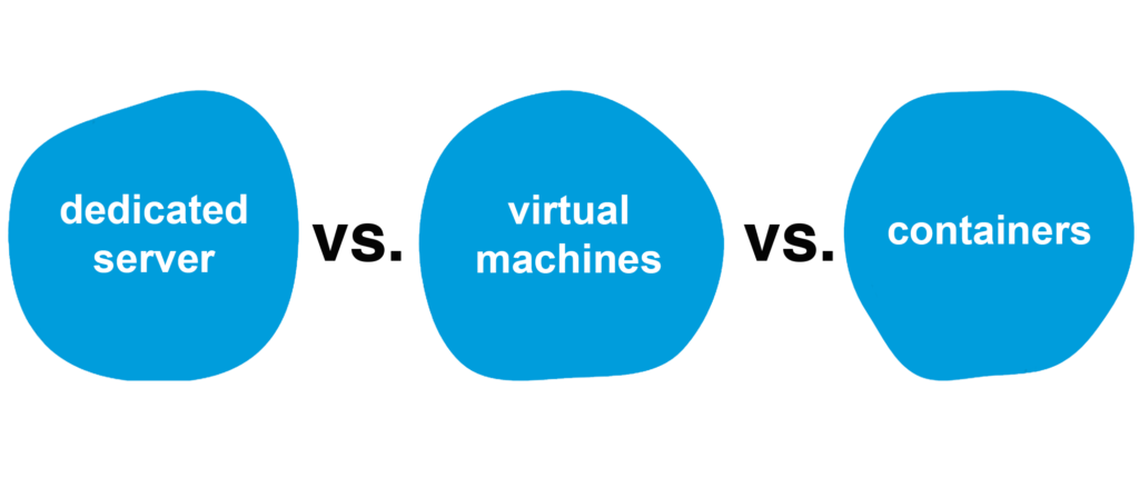 containers vs virtual machines vs servers
