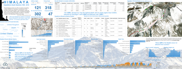 infographic sas visual analytics data story viya everest deaths